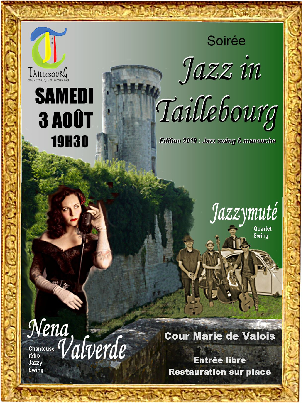 Maquette affiche Jazz in taillebourg