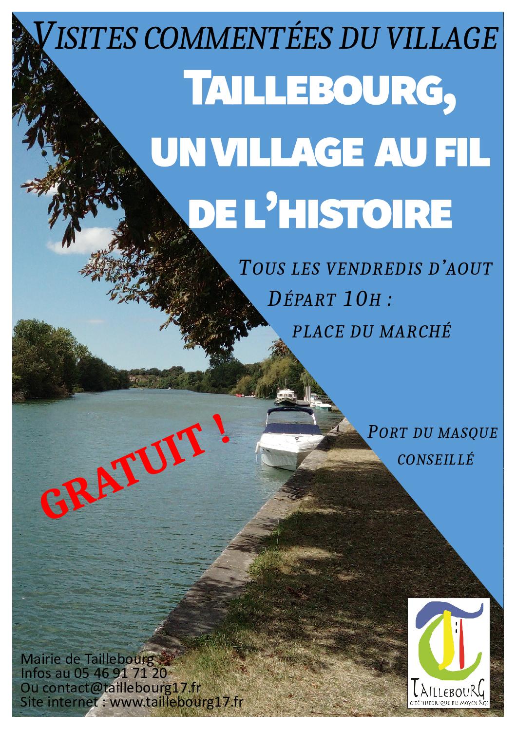 Affiche visites guidées village 10h