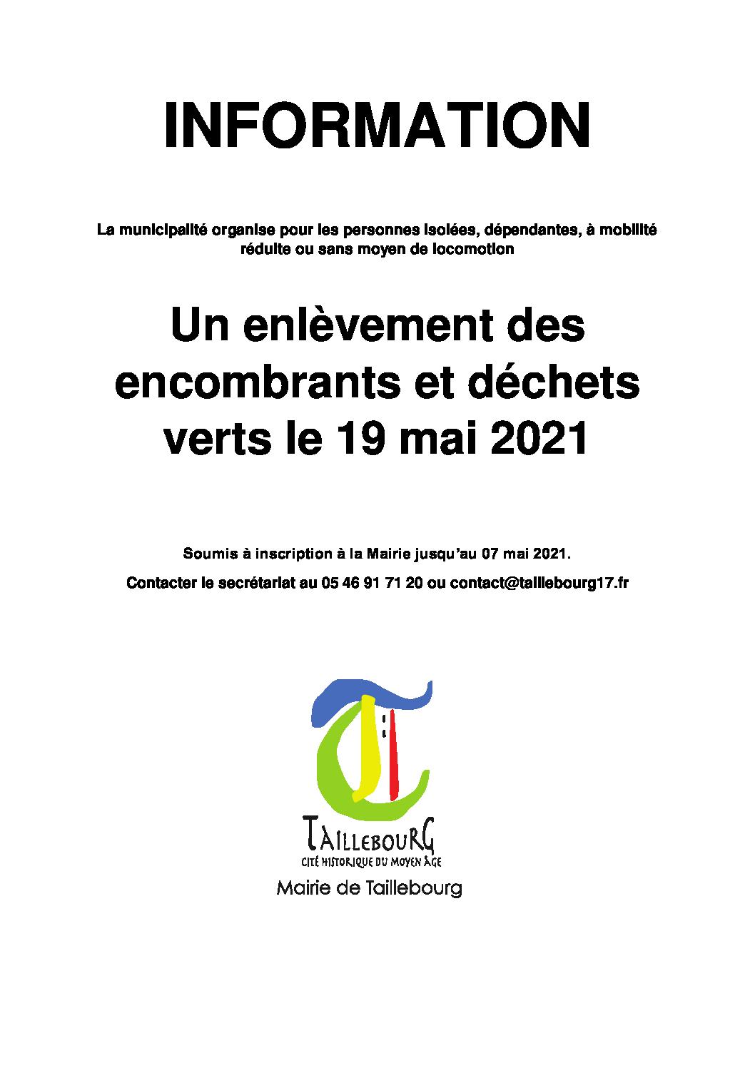 Affiche Encombrants 19-05-2021